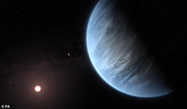 NASA announced a the partnership with SETI scientists in October. The team will scan hundreds of exoplanets (pictured is a concept drawing ofK2-18b)