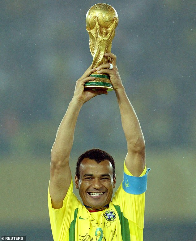 Cafu lifted the World Cup as captain in 2002, having also won with Brazil in 1994