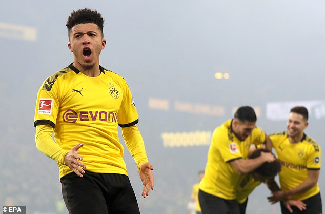 The 19-year-old Borussia Dortmund winger has scored 13 goals in 20 matches this season