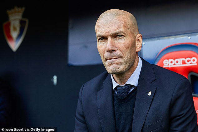Zinedine Zidane will lead his Real Madrid side against Man City in Champions League last-16